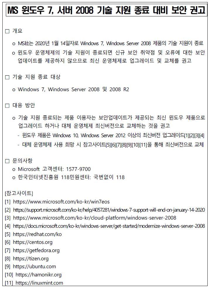 첨부_한국인터넷진흥원 보호나라 게재 보안공지문.JPG